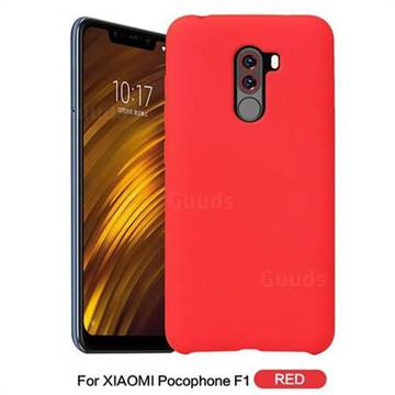 cheap for discount 31c0a eae97 Howmak Slim Liquid Silicone Rubber Shockproof Phone Case Cover for Mi  Xiaomi Pocophone F1 - Red