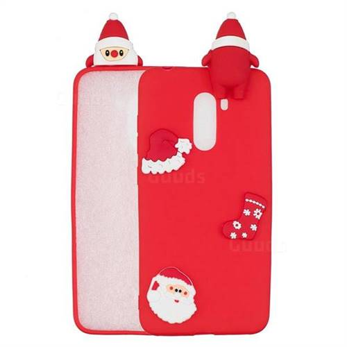 Red Santa Claus Christmas Xmax Soft 3D Silicone Case for Mi Xiaomi Pocophone F1