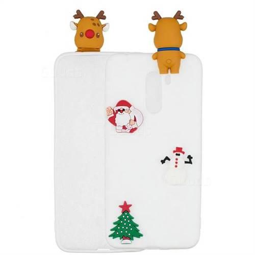 White Elk Christmas Xmax Soft 3D Silicone Case for Mi Xiaomi Pocophone F1