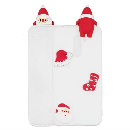 White Santa Claus Christmas Xmax Soft 3D Silicone Case for Mi Xiaomi Pocophone F1