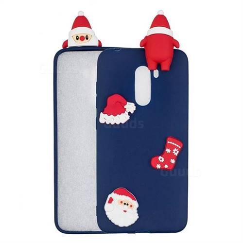 Navy Santa Claus Christmas Xmax Soft 3D Silicone Case for Mi Xiaomi Pocophone F1