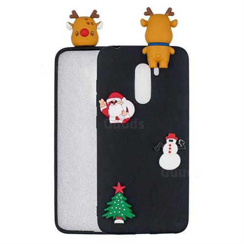 Black Elk Christmas Xmax Soft 3D Silicone Case for Mi Xiaomi Pocophone F1