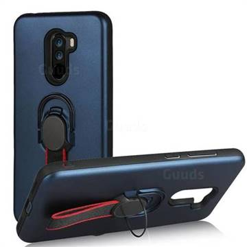 Raytheon Multi-function Ribbon Stand Back Cover for Mi Xiaomi Pocophone F1 - Blue