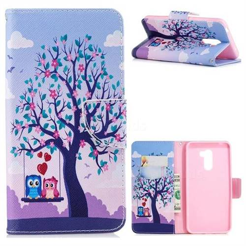 Tree and Owls Leather Wallet Case for Mi Xiaomi Pocophone F1