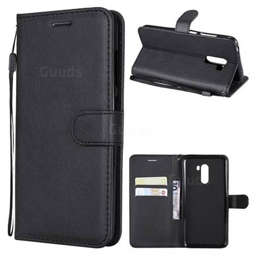 Retro Greek Classic Smooth PU Leather Wallet Phone Case for Mi Xiaomi Pocophone F1 - Black