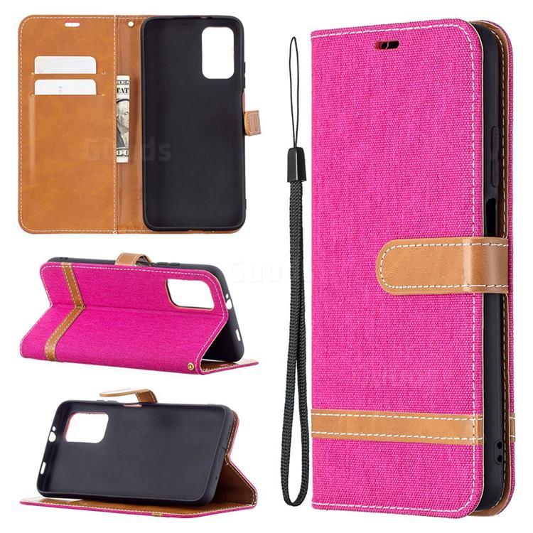 Jeans Cowboy Denim Leather Wallet Case for Mi Xiaomi Poco M3 - Rose