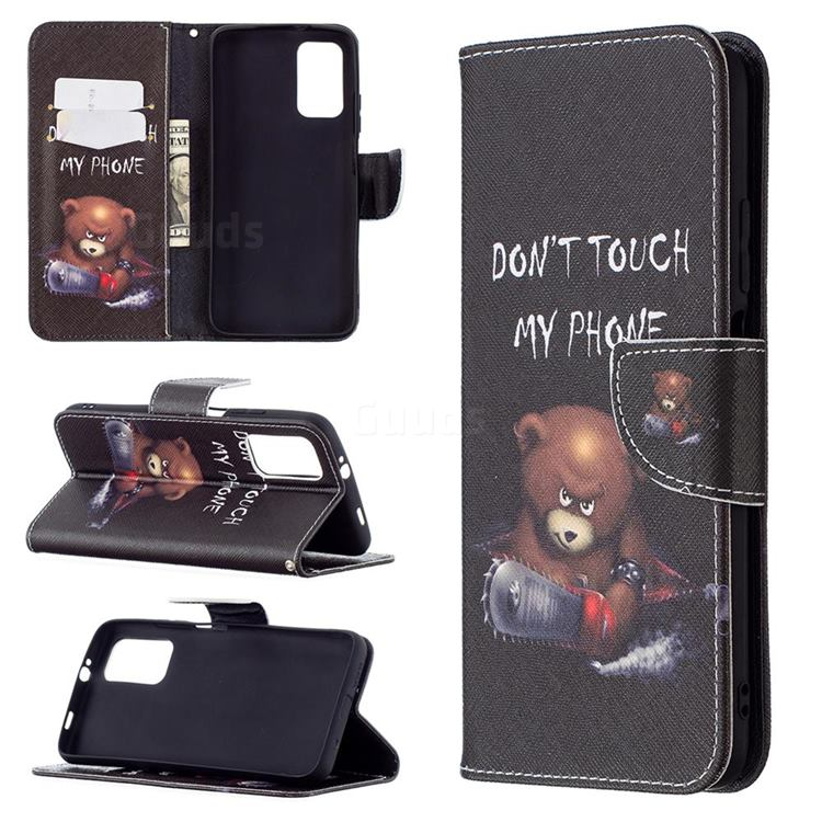 Chainsaw Bear Leather Wallet Case for Mi Xiaomi Poco M3