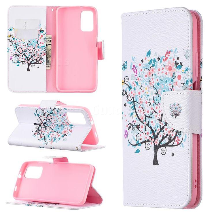 Colorful Tree Leather Wallet Case for Mi Xiaomi Poco M3