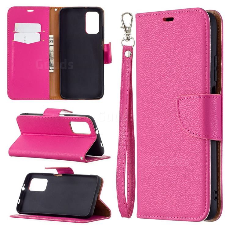 Classic Luxury Litchi Leather Phone Wallet Case for Mi Xiaomi Poco M3 - Rose