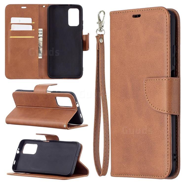 Classic Sheepskin PU Leather Phone Wallet Case for Mi Xiaomi Poco M3 - Brown