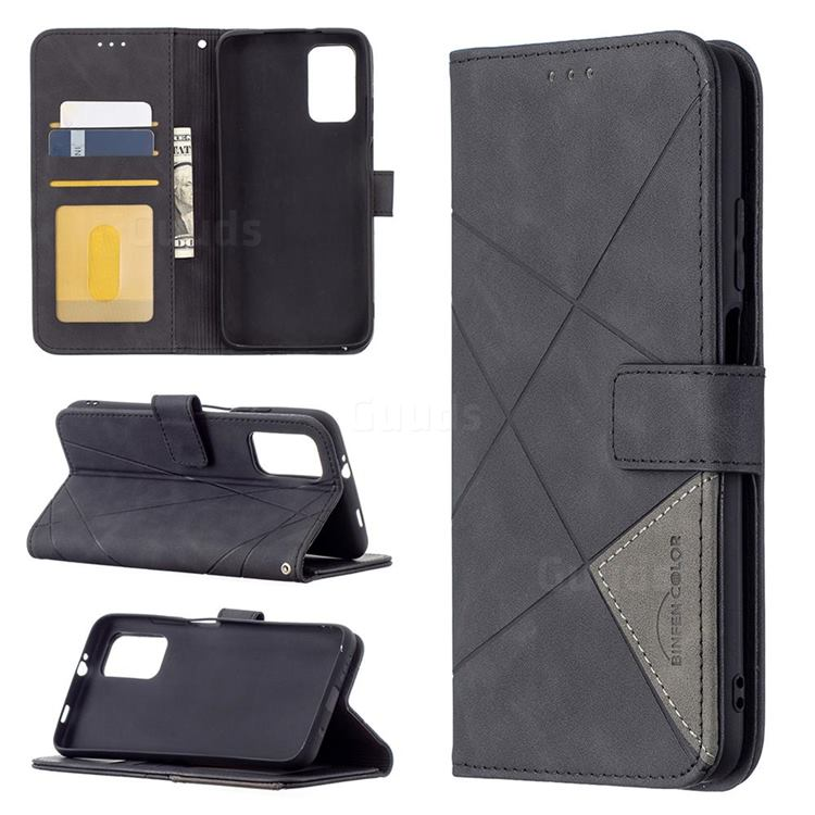 Binfen Color BF05 Prismatic Slim Wallet Flip Cover for Mi Xiaomi Poco M3 - Black