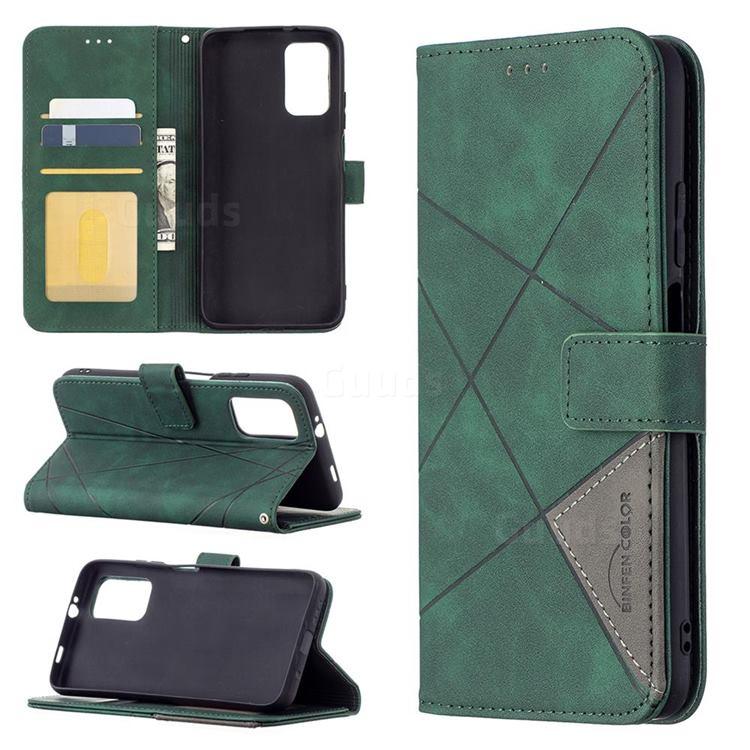 Binfen Color BF05 Prismatic Slim Wallet Flip Cover for Mi Xiaomi Poco M3 - Green