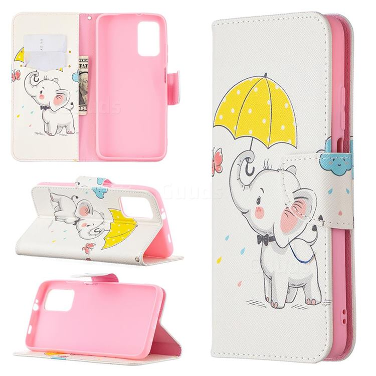 Umbrella Elephant Leather Wallet Case for Mi Xiaomi Poco M3