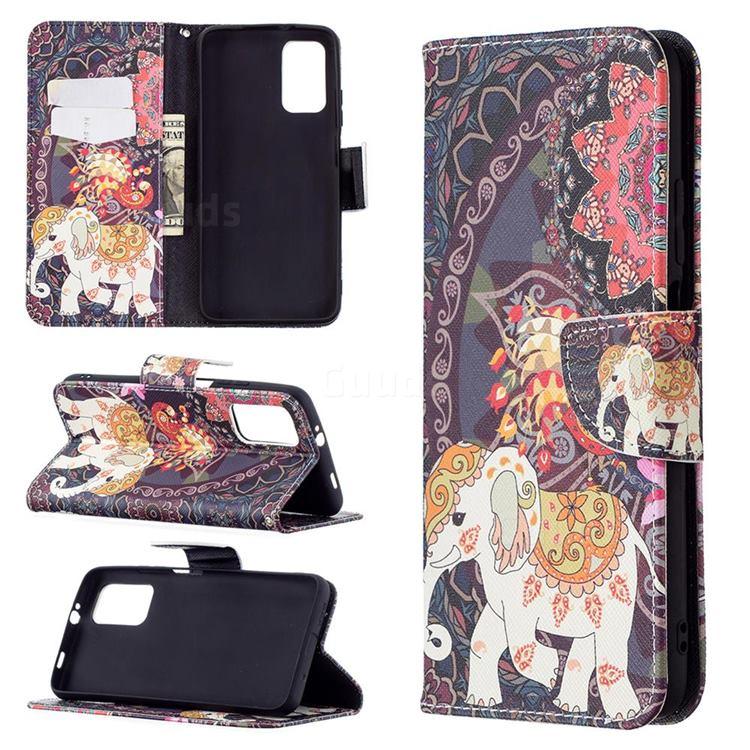 Totem Flower Elephant Leather Wallet Case for Mi Xiaomi Poco M3