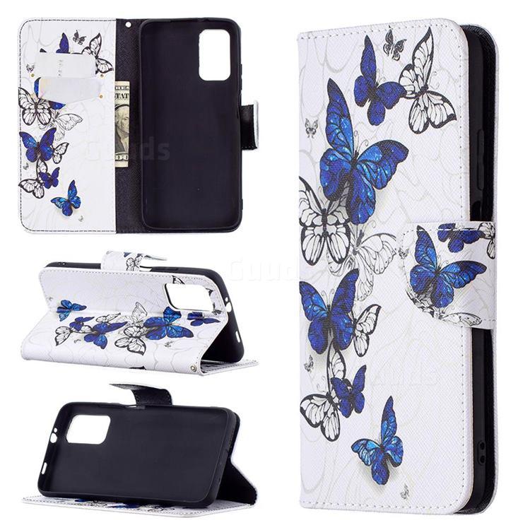 Flying Butterflies Leather Wallet Case for Mi Xiaomi Poco M3