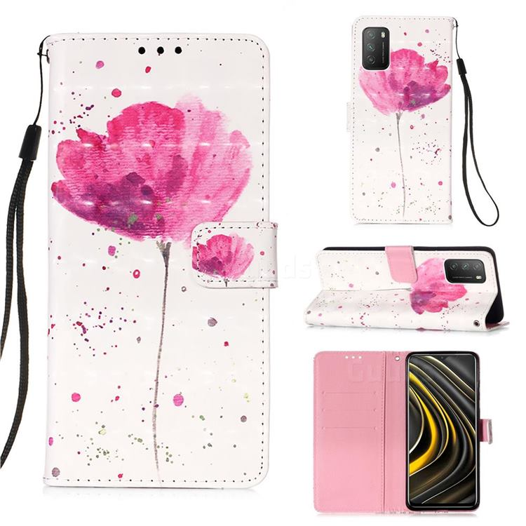 Watercolor 3D Painted Leather Wallet Case for Mi Xiaomi Poco M3