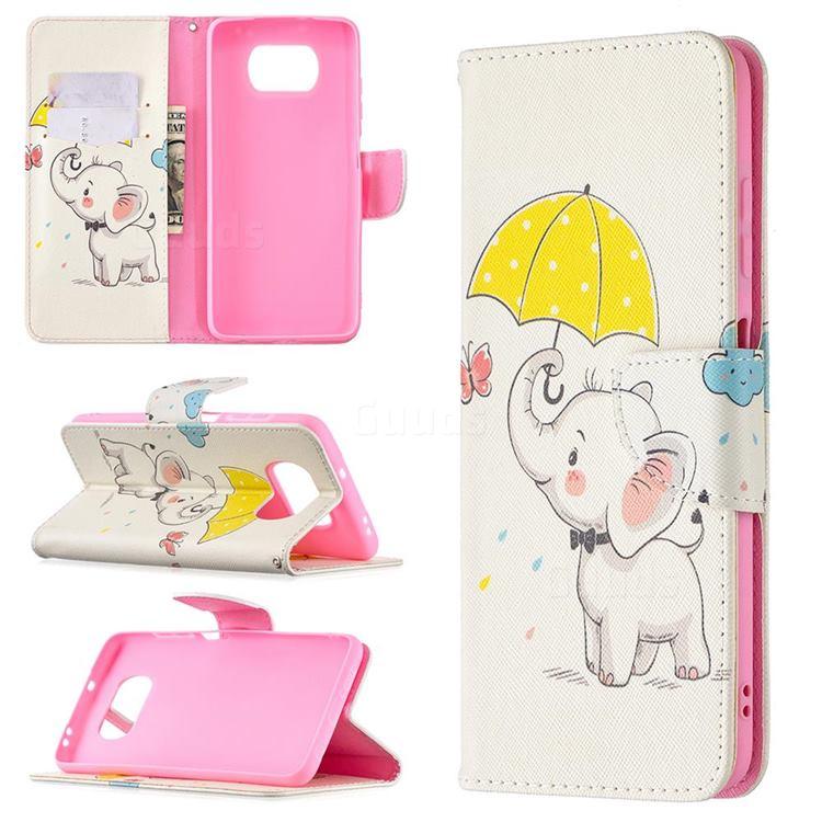 Umbrella Elephant Leather Wallet Case for Mi Xiaomi Poco X3 NFC