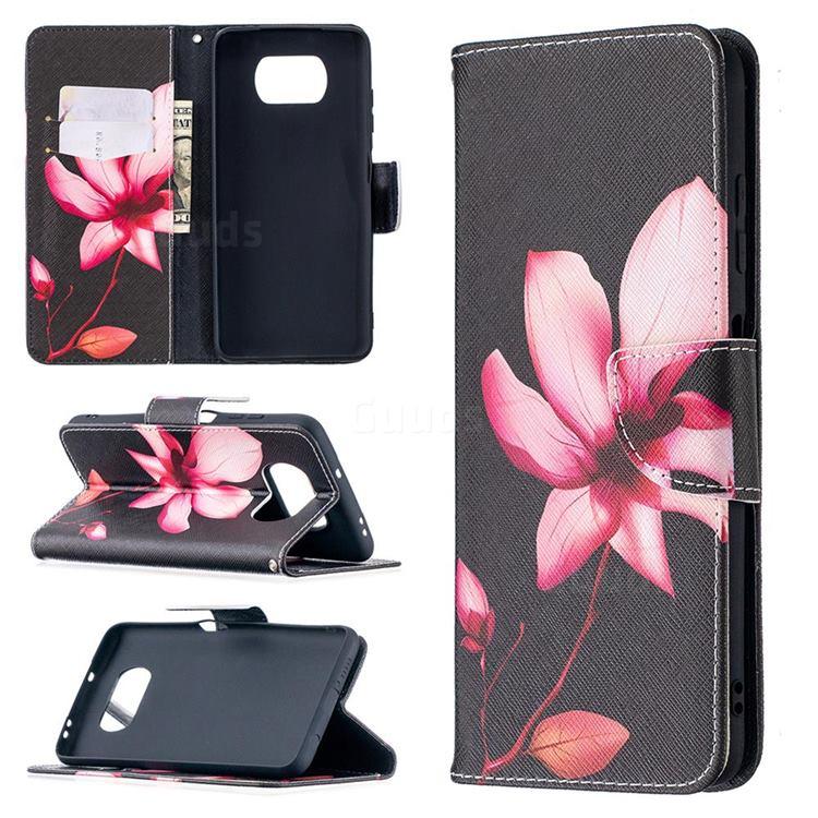 Lotus Flower Leather Wallet Case for Mi Xiaomi Poco X3 NFC