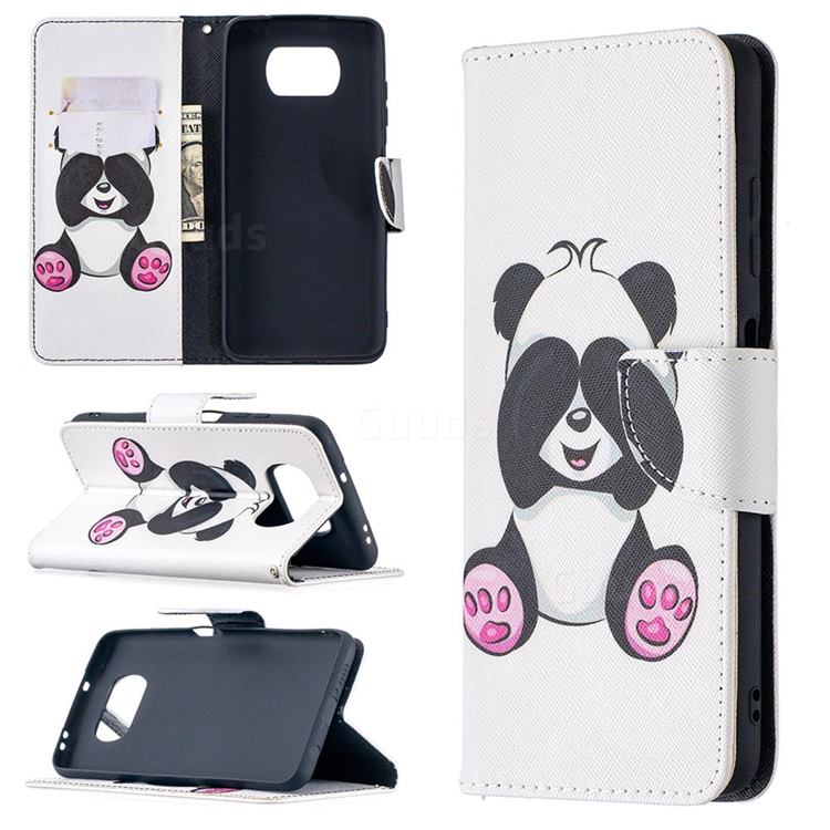 Lovely Panda Leather Wallet Case for Mi Xiaomi Poco X3 NFC