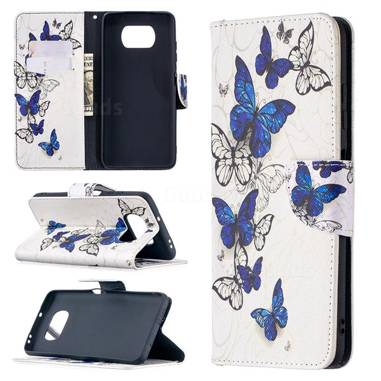 Flying Butterflies Leather Wallet Case for Mi Xiaomi Poco X3 NFC