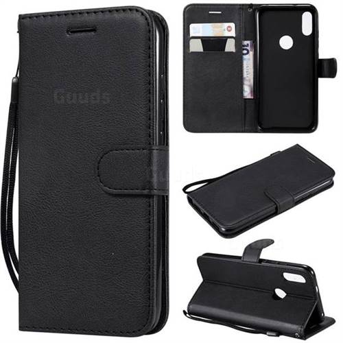 Retro Greek Classic Smooth PU Leather Wallet Phone Case for Xiaomi Mi Play - Black