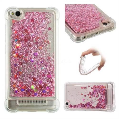 Dynamic Liquid Glitter Sand Quicksand Star TPU Case for Xiaomi Redmi 4A - Diamond Rose
