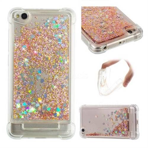 Dynamic Liquid Glitter Sand Quicksand Star TPU Case for Xiaomi Redmi 4A - Diamond Gold