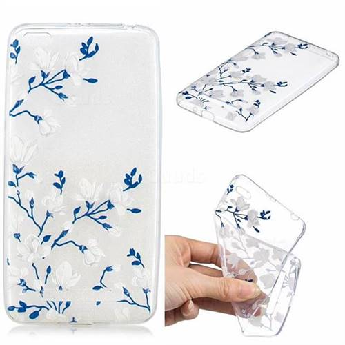 Magnolia Flower Clear Varnish Soft Phone Back Cover for Xiaomi Redmi 4A
