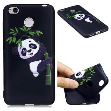 detailed look e5629 5e327 Bamboo Panda 3D Embossed Relief Black Soft Back Cover for Xiaomi Redmi 4  (4X)