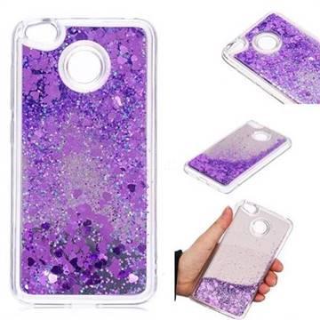 Glitter Sand Mirror Quicksand Dynamic Liquid Star TPU Case for Xiaomi Redmi 4 (4X) - Purple