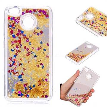 Glitter Sand Mirror Quicksand Dynamic Liquid Star TPU Case for Xiaomi Redmi 4 (4X) - Yellow