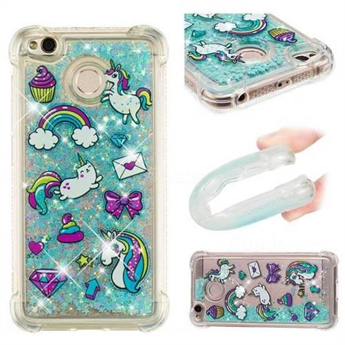 Fashion Unicorn Dynamic Liquid Glitter Sand Quicksand Star TPU Case for Xiaomi Redmi 4 (4X)
