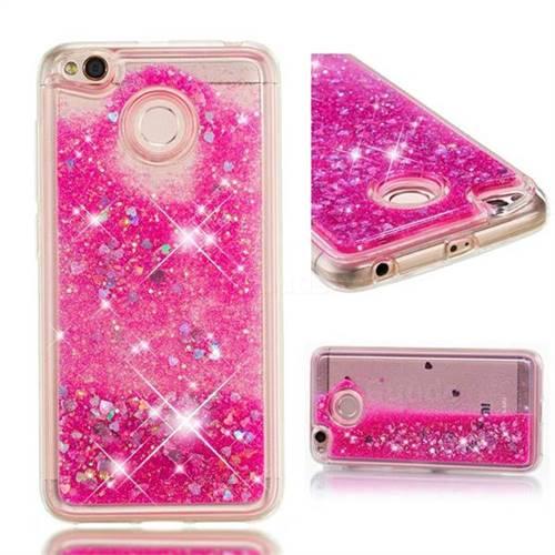 Dynamic Liquid Glitter Quicksand Sequins TPU Phone Case for Xiaomi Redmi 4 (4X) - Rose