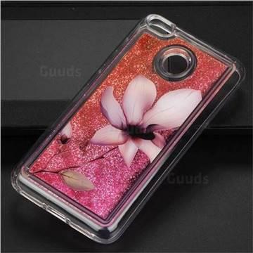 Lotus Glassy Glitter Quicksand Dynamic Liquid Soft Phone Case for Xiaomi Redmi 4 (4X)