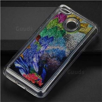 Phoenix Glassy Glitter Quicksand Dynamic Liquid Soft Phone Case for Xiaomi Redmi 4 (4X)