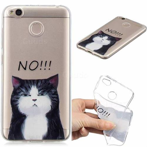 No Cat Clear Varnish Soft Phone Back Cover for Xiaomi Redmi 4 (4X)