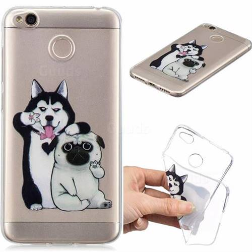 Selfie Dog Clear Varnish Soft Phone Back Cover for Xiaomi Redmi 4 (4X)