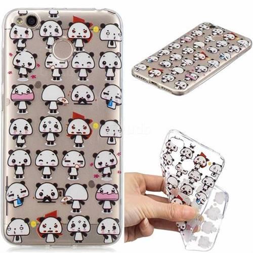Mini Panda Clear Varnish Soft Phone Back Cover for Xiaomi Redmi 4 (4X)