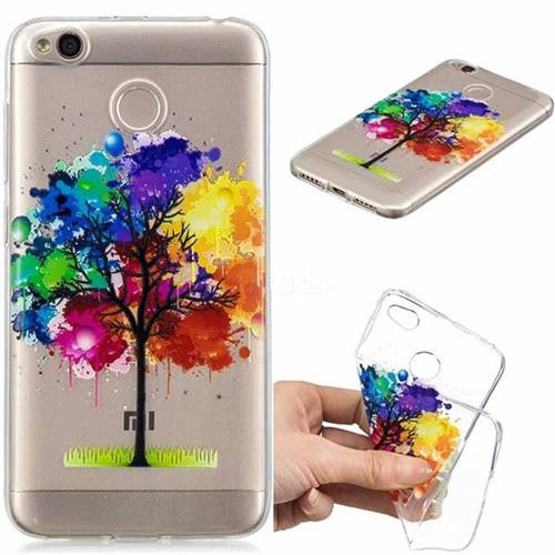 Oil Painting Tree Clear Varnish Soft Phone Back Cover for Xiaomi Redmi 4 (4X)