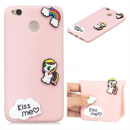 Kiss me Pony Soft 3D Silicone Case for Xiaomi Redmi 4 (4X)