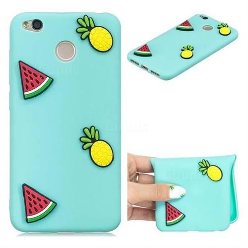 Watermelon Pineapple Soft 3D Silicone Case for Xiaomi Redmi 4 (4X)