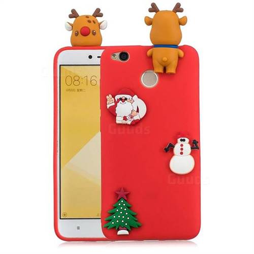 Red Elk Christmas Xmax Soft 3D Silicone Case for Xiaomi Redmi 4 (4X)