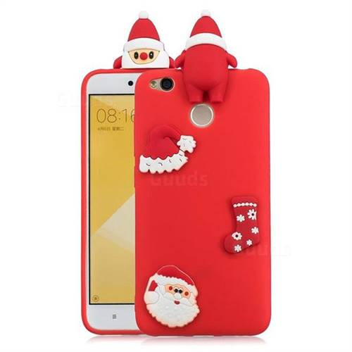Red Santa Claus Christmas Xmax Soft 3D Silicone Case for Xiaomi Redmi 4 (4X)