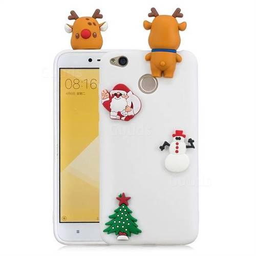 White Elk Christmas Xmax Soft 3D Silicone Case for Xiaomi Redmi 4 (4X)