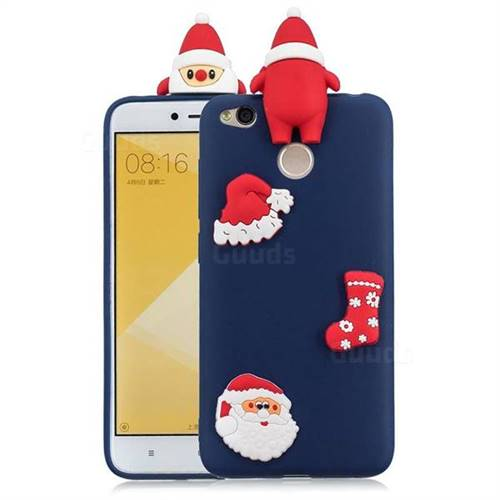 Navy Santa Claus Christmas Xmax Soft 3D Silicone Case for Xiaomi Redmi 4 (4X)