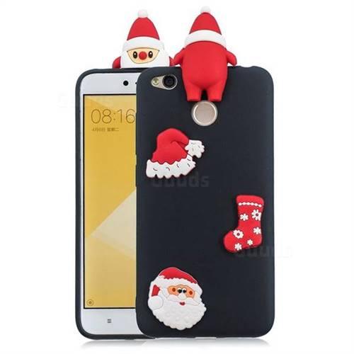 Black Santa Claus Christmas Xmax Soft 3D Silicone Case for Xiaomi Redmi 4 (4X)