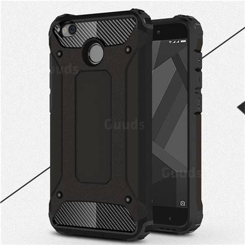 King Kong Armor Premium Shockproof Dual Layer Rugged Hard Cover for Xiaomi Redmi 4 (4X) - Black Gold