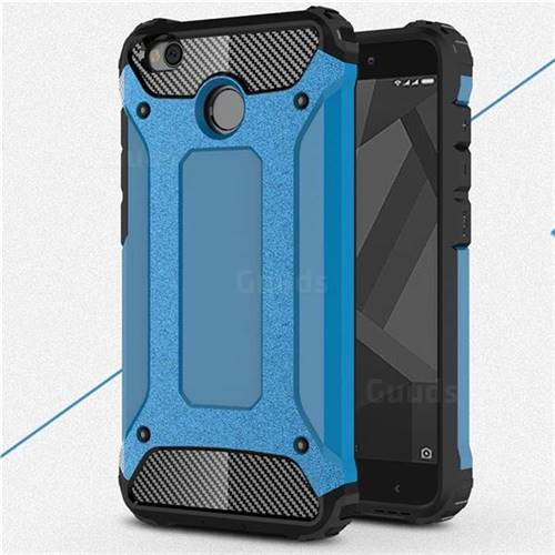 newest b3398 78c62 King Kong Armor Premium Shockproof Dual Layer Rugged Hard Cover for Xiaomi  Redmi 4 (4X) - Sky Blue