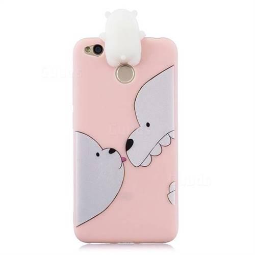 hot sale online a8daf 96233 Big White Bear Soft 3D Climbing Doll Soft Case for Xiaomi Redmi 4 (4X)