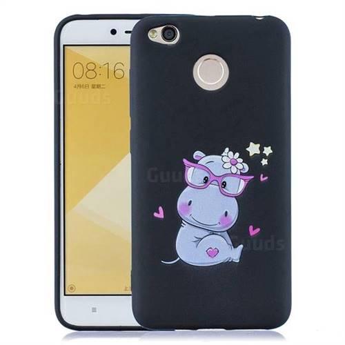 the best attitude c8399 e2499 Black Flower Hippo Soft Kiss Candy Hand Strap Silicone Case for Xiaomi  Redmi 4 (4X)